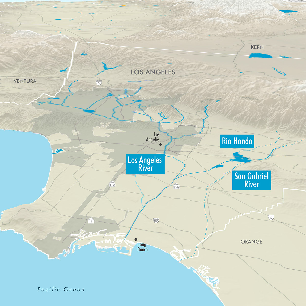 GreenInfo Network Information And Mapping In The Public Interest - Los angeles river map
