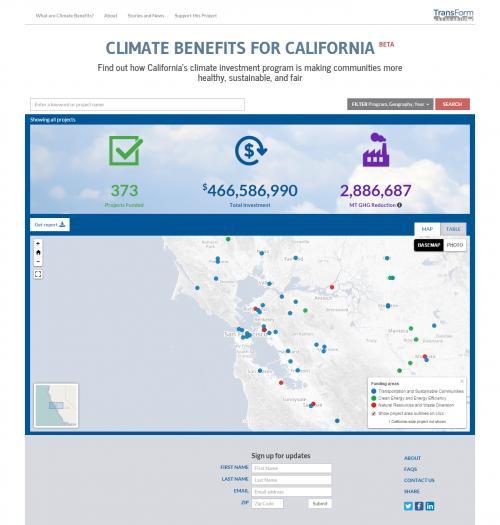 Climate Benefits webiste