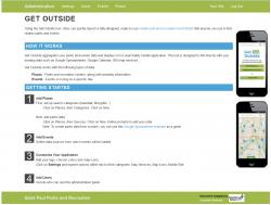 The main administration panel for Get Outside application