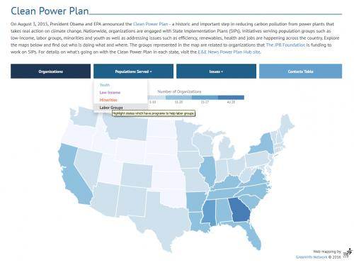 Clean Energy Grant Mapper overview