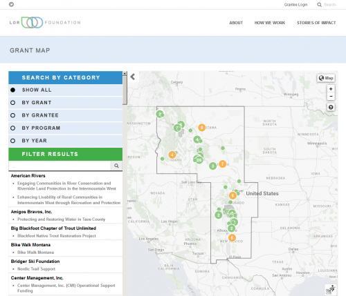 LOR Foundation Grant Mapper