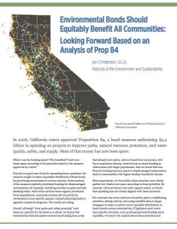 Proposition 84 print policy brief