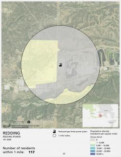 Redding population density