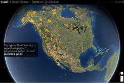 Story Map interactive globe view of protected areas