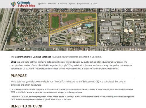 California Schools Database homepage