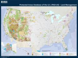 PAD-US map showing manager types for protected areas