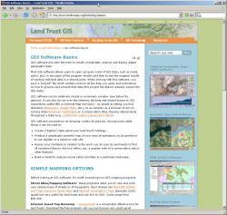 Original LandTrustGIS.org website