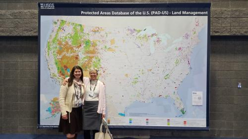 USGS PAD-US staff with large map poster