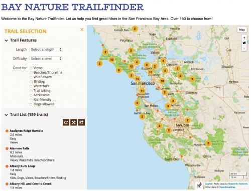 Trail search view