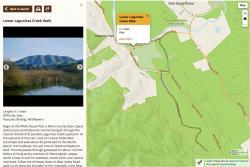 Trail details on desktop