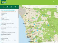 Search results in GetOutsideSanDiego.org mapper