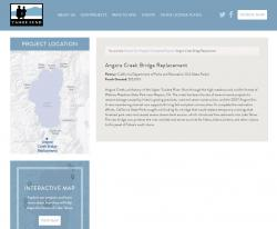 Project detail page with GIS-created map image