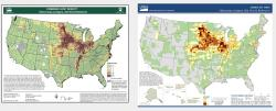Original map (left) compared to GreenInfo-revised version (right)