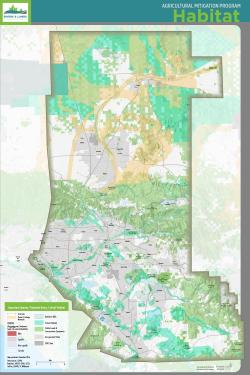 Habitat map, including corridors