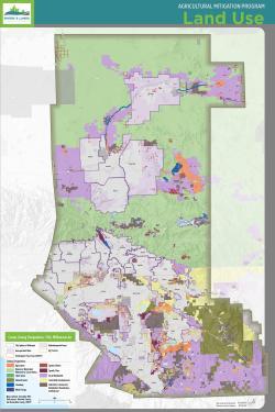 Regional land use map