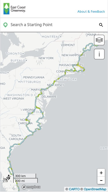 The route overview