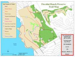 Original trail map for Preserve