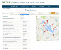 Organizations Directory Page